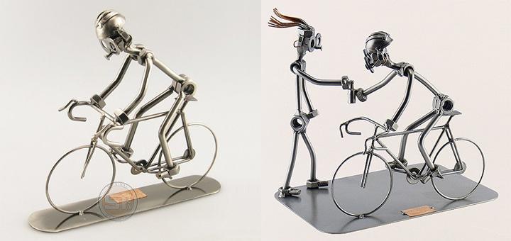 metalen-beeldje-wielrenner-racefiets