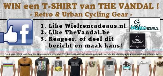 Win een t-shirt van The Vandal (Facebook actie)