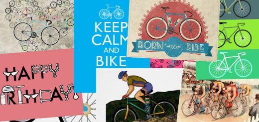 Wenskaarten en verjaardagskaarten voor fietsers en wielrenners
