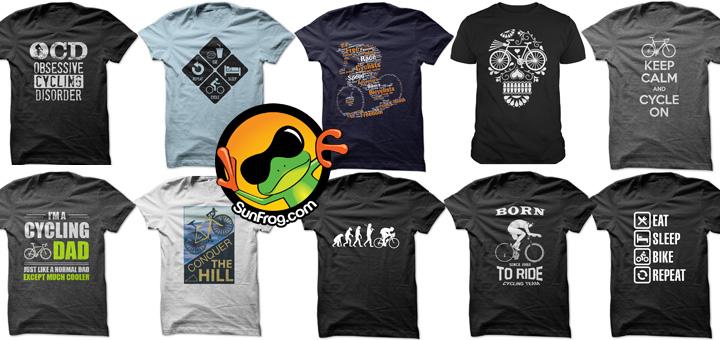 Cycling t-shirts kopen bij Sunfrog.com