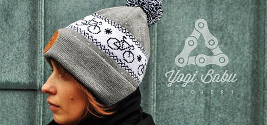 Trendy wintermutsen met fiets thema