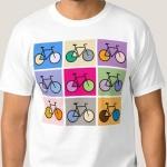 Gekleurde fietsen (Zazzle)